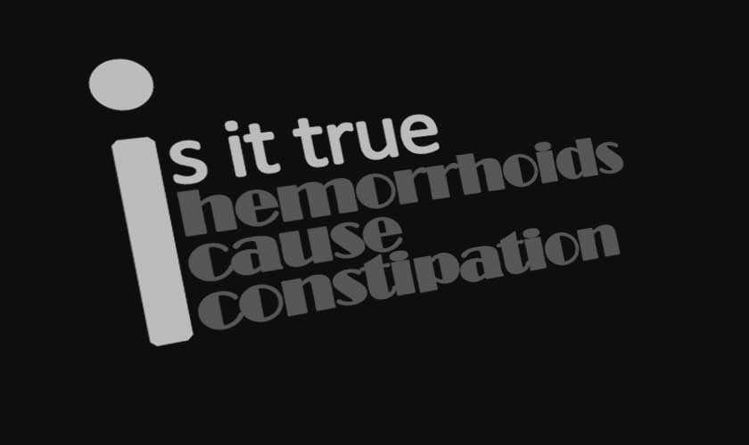 can hemorrhoids cause constipation