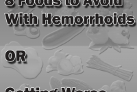 Food to avoid with hemorrhoids
