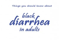 black diarrhea in adults