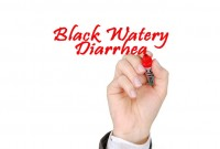 black watery diarrhea
